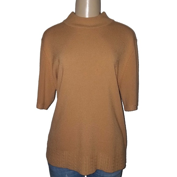 4a5469d25d SAG HARBOR WOMEN Tan Acrylic Sweater Shirt 1X XXL.  M 5c09c42e2beb7925cca316f4